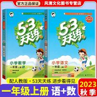 53天天练一年级上 册人教版2019秋语文+数学2本套装人教版部编版统编版