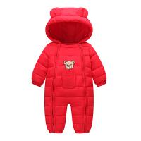 新款宝宝连体衣冬季加厚儿童爬服男童婴儿外出服女童羽绒哈衣