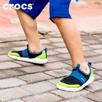 Crocs童鞋休闲鞋 卡骆驰激浪透气男女儿童运动鞋 204022 激浪束带童鞋