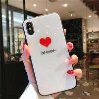 苹果6手机壳带挂绳镜面玻璃iphone6plus透明7/8防摔6s日韩x女款潮xr网红xs max抖