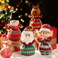 圣诞节手提袋装饰袜子礼物袋糖果袋平安夜苹果袋包装盒创意小礼品