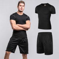 运动套装男士夏季宽松休闲短袖五分裤跑步训练速干T恤运动衣服装