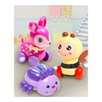 卡通会动会跑的儿童上链动物爬行发条玩具套装上劲宝宝1-3岁玩具抖音