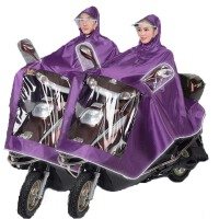 摩托车电动车雨衣 户外单人男女士成人大厚骑行防水雨披