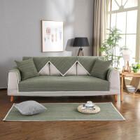 ???新中式棉麻沙发垫布艺坐垫四季通用简约现代客厅实木防滑沙发套巾