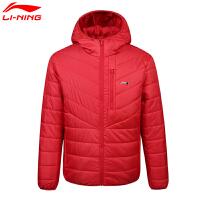 李宁男款秋冬季训练跑步男子连帽保暖舒适经典运动服外套