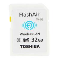 东芝 wifiSD卡32g FlashAir 32G W-03 无线SD卡 32g 32G TOSHIBA FlashAir 无线局域网嵌入式 SDHC存储卡 Class10