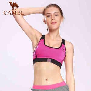 camel骆驼运动文胸 女款瑜伽健身健美跑步健身减震透气工型背心夏