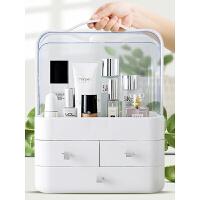 抽屉式化妆品收纳盒塑料梳妆台置物架桌面透明护肤品收纳架