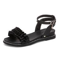 WARORWAR新品YM1-588夏季甜美平底鞋舒适女士凉鞋