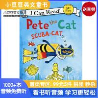英文绘本 原版进口 Pete the Cat: Scuba-Cat I Can Read [4-8岁]