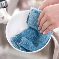 抹布吸水抹布厨房洗碗布竹纤维抹布洗碗毛巾 单条颜色备注