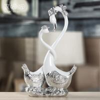 北欧天鹅摆件家居装饰品客厅欧式新婚庆礼品结婚礼物创意实用闺蜜