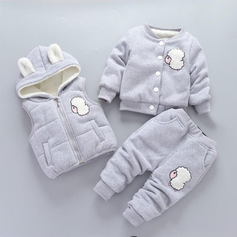 童装宝宝加绒加厚套装男女童冬装婴儿童三件套0-1-2-3-4岁半 发货周期:一般在付款后2-90天左右发货,具体发货时间请以与客服协商的时间为准