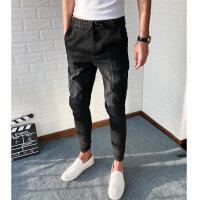 社会人牛仔裤修身弹力小脚裤黑色显瘦束脚裤快手网红同款紧身裤