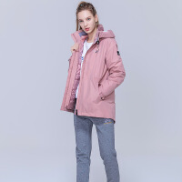 【到手价:799元】Discovery户外2019秋冬新品女式套羽绒冲锋衣DAWH92675