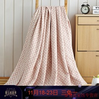 纯棉毛巾被子 全棉毛毯加厚提花针织毛巾被 盖毯薄毯子多功能床单 200*230cm 3斤