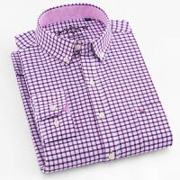 2018春季新款牛津纺男士长袖衬衫商务休闲纯色衬衣修身男装潮