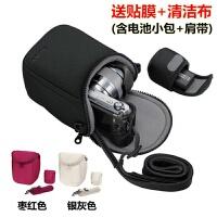 索尼ILCE-A6500 A6300 A6000 A5100 A5000微单相机包 便携保 SONY标志 黑色 送清洁