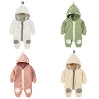 婴儿连体衣服0岁3个月1新生儿5宝宝秋冬装爬服男女可爱哈衣外出服