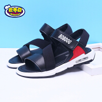 巴布豆童鞋 新款2018男童凉鞋夏季休闲韩版时尚透气沙滩平底凉鞋