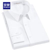 【618狂欢1折起】罗蒙(ROMON)青年男士长袖衬衫斜纹修身工装衬衣时尚休闲纯色职业装