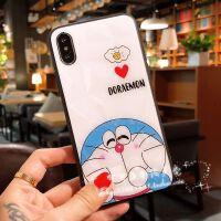 苹果X手机壳xs max亮面iphone7plus可爱卡通8菱格纹xr/6s全包防摔