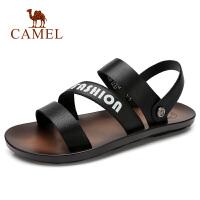 camel 骆驼男鞋2018夏新款凉鞋男潮流韩版休闲百搭防滑平底凉鞋男