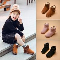 冬季儿童雪地靴男童短靴2018新款童靴中大童加绒女童靴子保暖棉靴