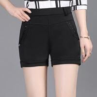 中年女士夏装休闲裤40-50岁妈妈装松紧腰中老年妇女大码打底短裤