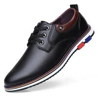 皮鞋男休闲鞋子韩版潮流透气男鞋软底男士商务百搭青年秋季鞋子男 2671 黑色 单鞋
