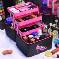 化妆包大容量韩国手提多层化妆箱护肤品少女心收纳旅行洗漱包