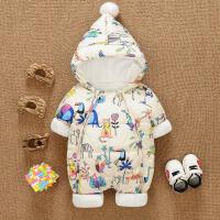 婴儿连体衣秋冬款棉衣加厚婴幼儿冬装男女宝宝外出保暖冬季衣服潮