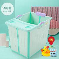 可折叠婴儿浴盆 加大号儿童洗澡桶沐浴盆小孩可坐宝宝浴桶泡澡桶BJX