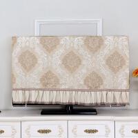 电视机罩防尘罩挂式55英寸50液晶42寸欧式电视罩套盖布壁挂电视帘