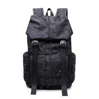 男士双肩包潮男背包中学生书包休闲韩版电脑包登山双肩旅行包 黑色 迷彩