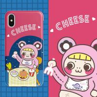 papa制造局插画少女卡通iphone8苹果x 6splus新款手机壳7iphone