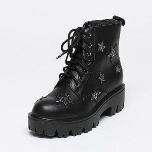 Belle/百丽冬季专柜同款牛皮/羊绒皮女短靴Q5R1DDD6