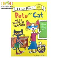 #英文原版 Pete the Cat and the Surprise Teacher 皮特猫 i can read
