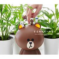 古宾 韩国LineFriends布朗熊mini空气净化器车载家用除味PM2.5 大号:Brown 布朗熊
