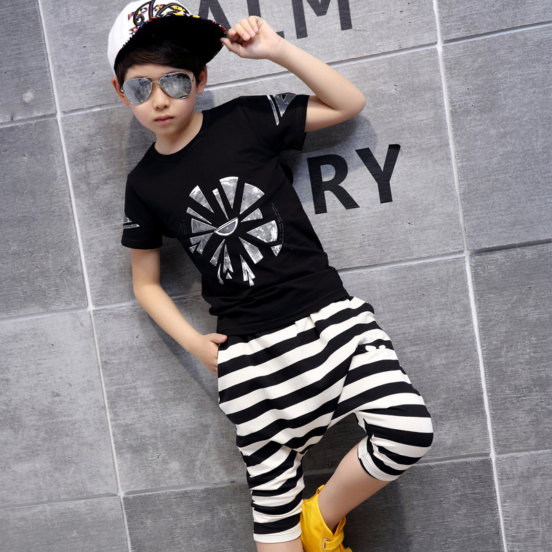 新款套装儿童中大童夏季童装短袖韩版两件套12-15岁