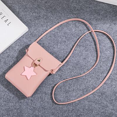 新款时尚竖款星星手机包女包迷你单肩斜跨小包包韩版女包
