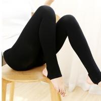 秋冬新款羊绒棉竖条纹打底裤袜收腹提臀微压修身踩脚裤150g