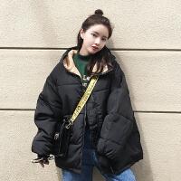 棉袄女韩版学生加厚面包服ins冬装女短款bf宽松外套