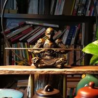吴尧辉手工铜雕斗战胜佛齐天大圣孙悟空猴子创意茶具茶宠艺术摆件 棕褐色