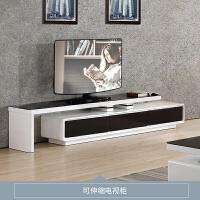 钢化玻璃电视柜茶几组合套装现代简约小户型客厅伸缩地柜 组装