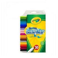 绘儿乐水彩笔crayola水彩笔 20色可水洗细杆 58-8106