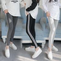 春季潮妈外穿条纹长裤小脚裤子孕妇春装打底裤2018新款韩版孕妇