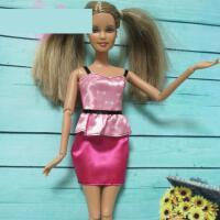 ?30cm换装芭芘娃娃正版配件衣服服装服饰休闲时装裙子礼服2018新款? 适合29cm左右的娃娃穿