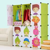 思故轩 宝宝衣柜儿童收纳柜婴儿储物柜整理塑料卡通组装衣物收纳箱M120802
